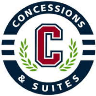 Concessions & Suites logo with a capital red C and olive branches