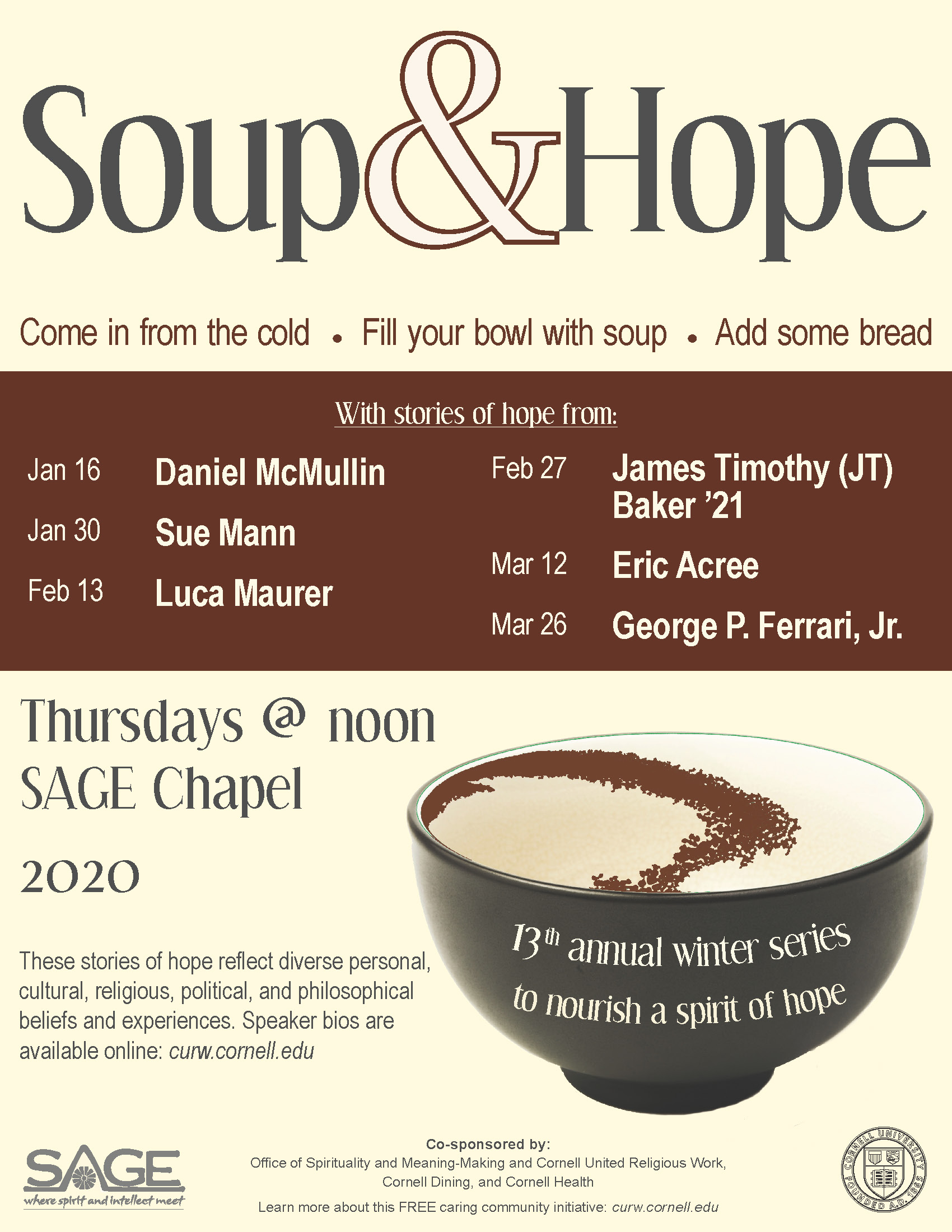 Soup & Hope Poster for 2020