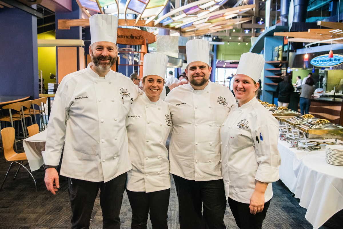 Cornell Dining chefs at Skidmore culinary competition