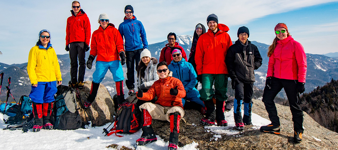 A COE Mountaineering class on an Adirondack summit