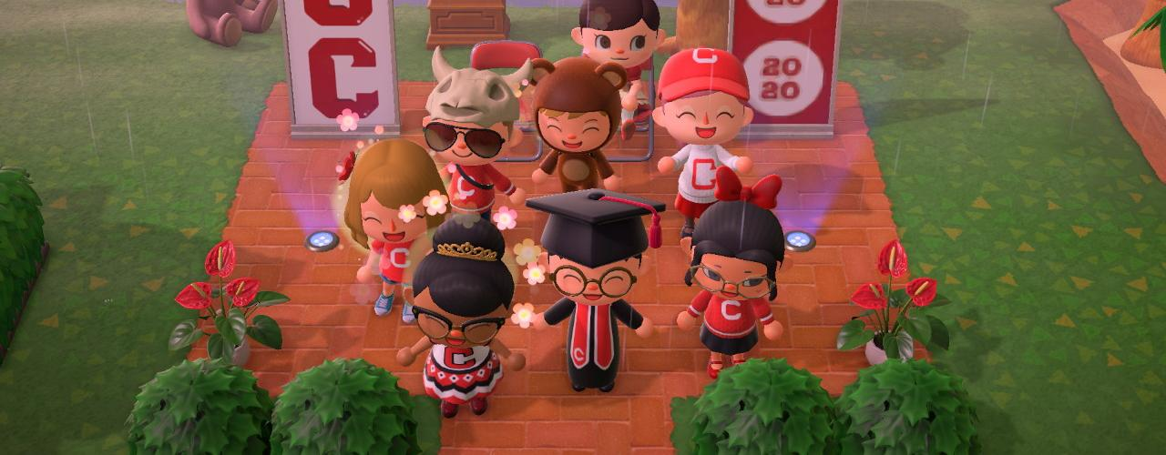 Celebrating Class of 2020 on Animal Crossing: New Horizons