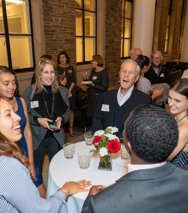 Fred Wilpon and Kessler Presidential Scholars meet at 2019 Welcome Dinner